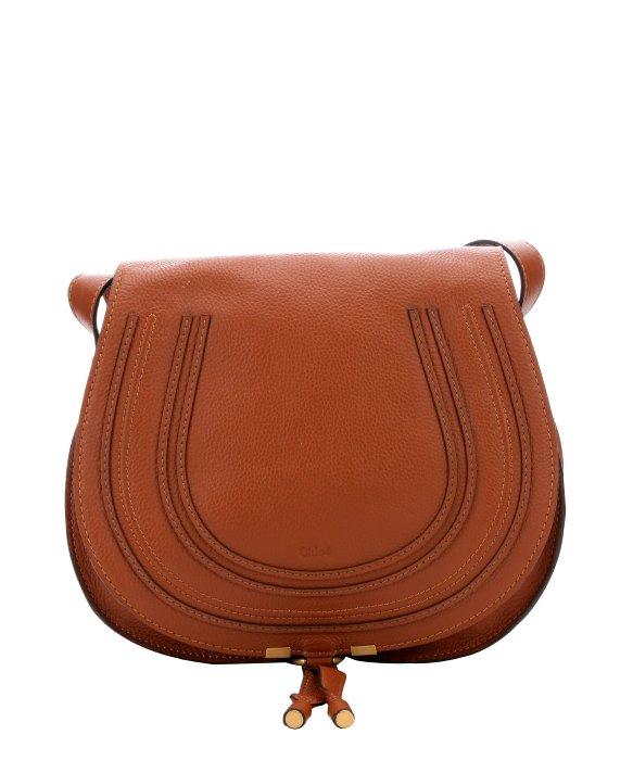 chloe marcie medium saddle bag - tan
