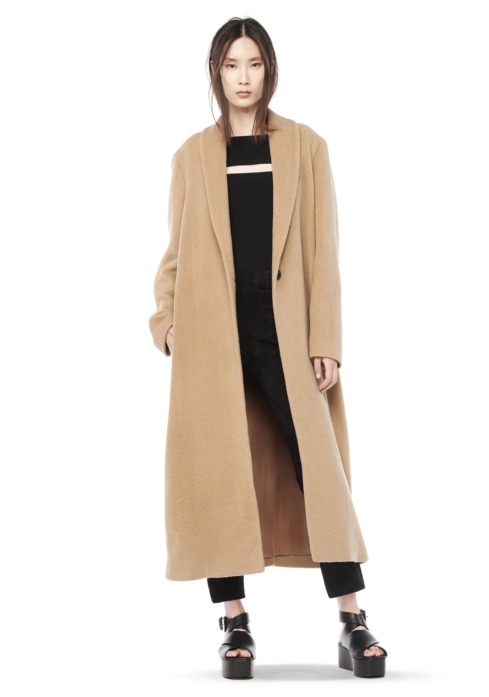 Long Beige Wool Coat | Fashion Women's Coat 2017