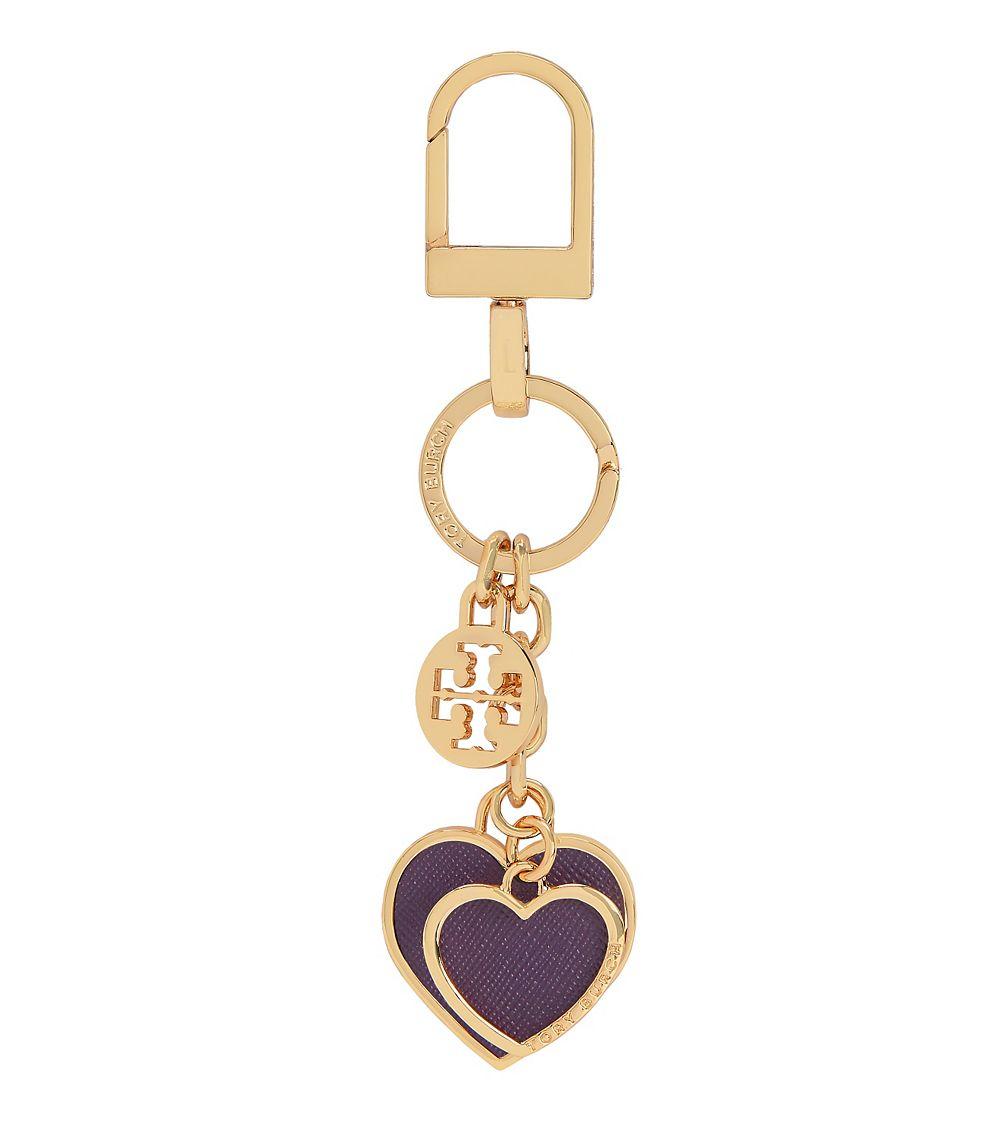 8a9de1e39f80 Tory Burch Heart Key Fob in Purple - Lyst