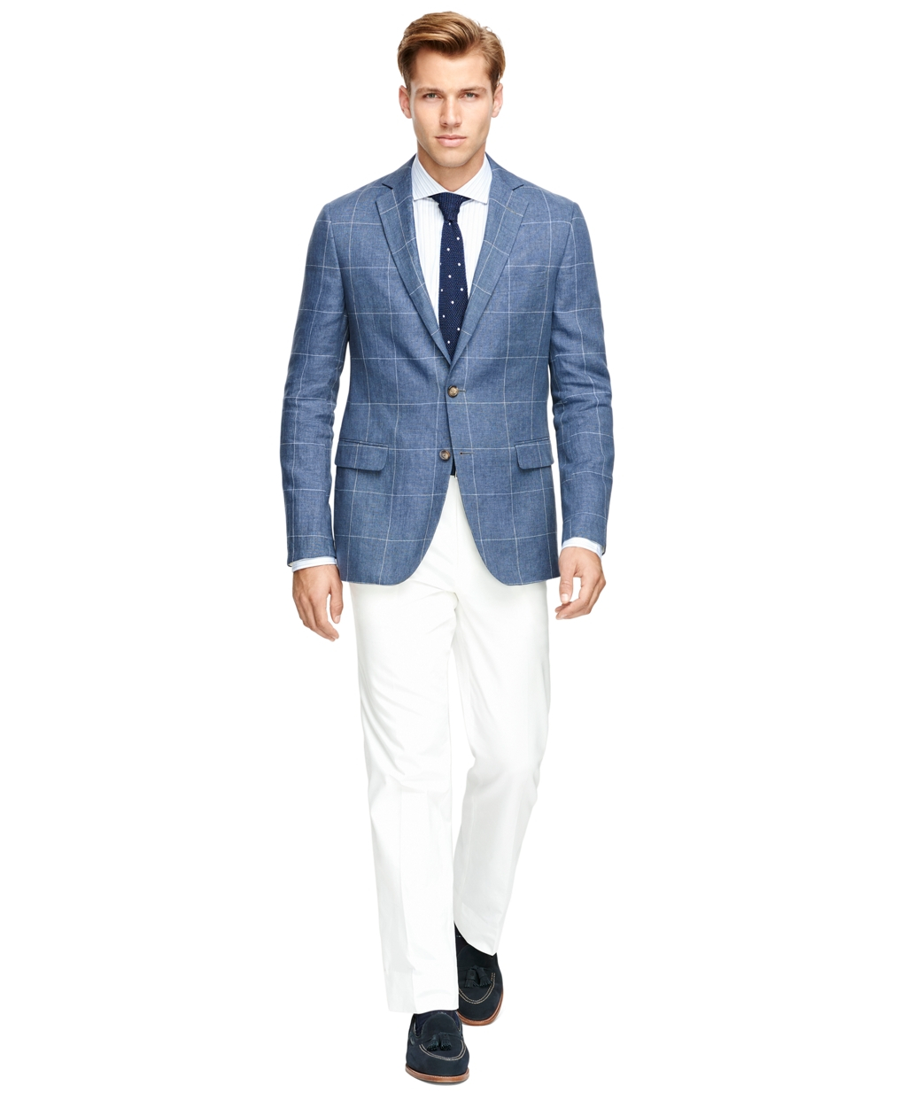 Brooks brothers Fitzgerald Fit Windowpane Sport Coat in Blue for ...