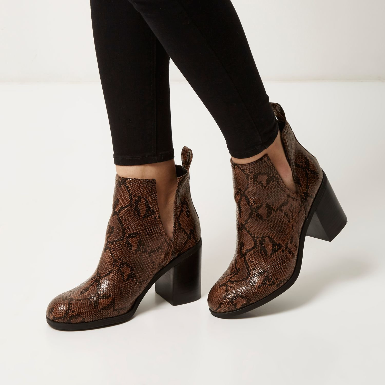 River Island Ankle Boots Snakeskin