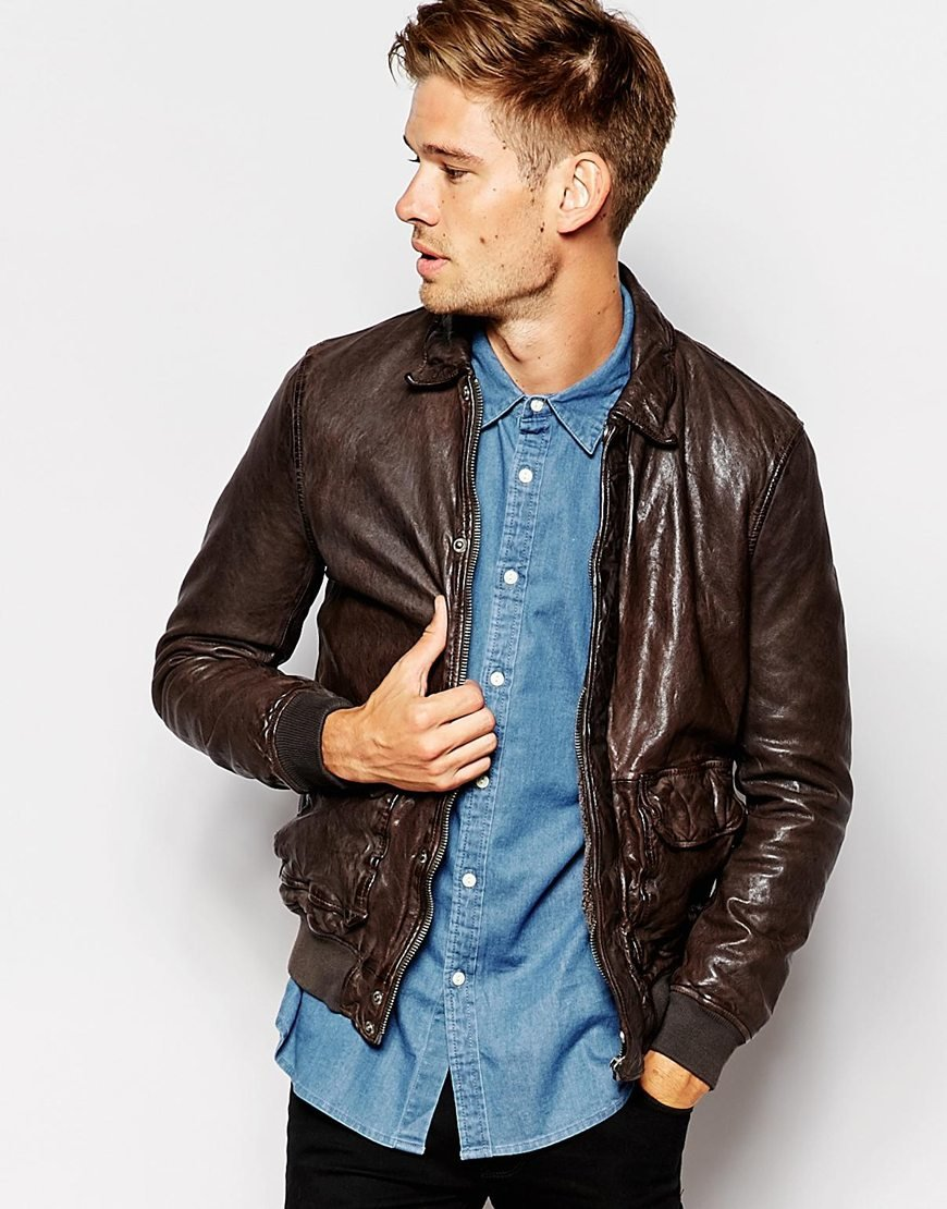 Thin leather jackets for men