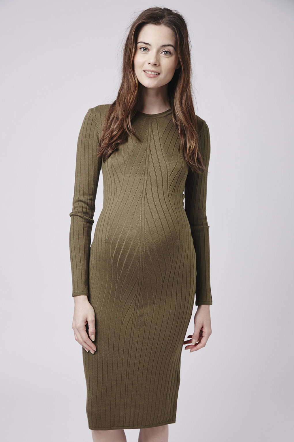 Topshop maternity travelling rib dress in natural lyst gallery ombrellifo Gallery