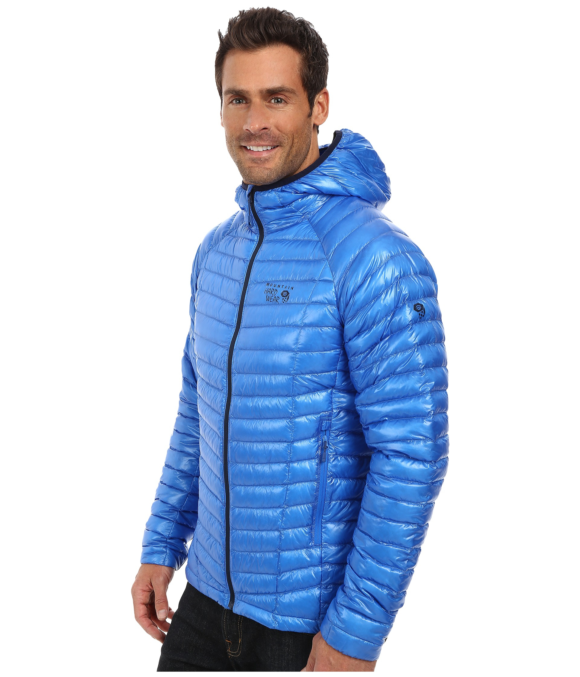 b44a26cdc7a Mountain Hardwear Ghost Whisperer Hooded Down Jacket in Blue for Men ...