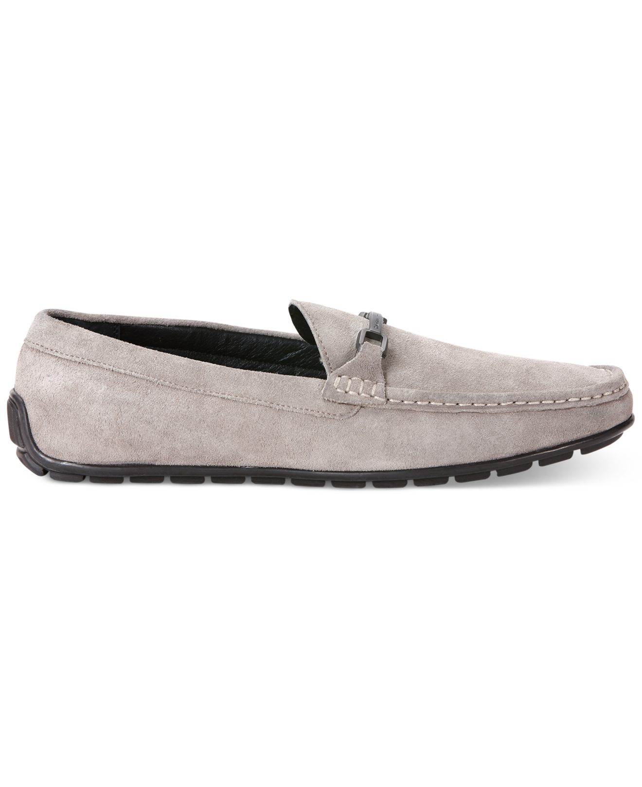 92bb00164cd Lyst - Calvin Klein Isley Suede Loafers in Purple for Men