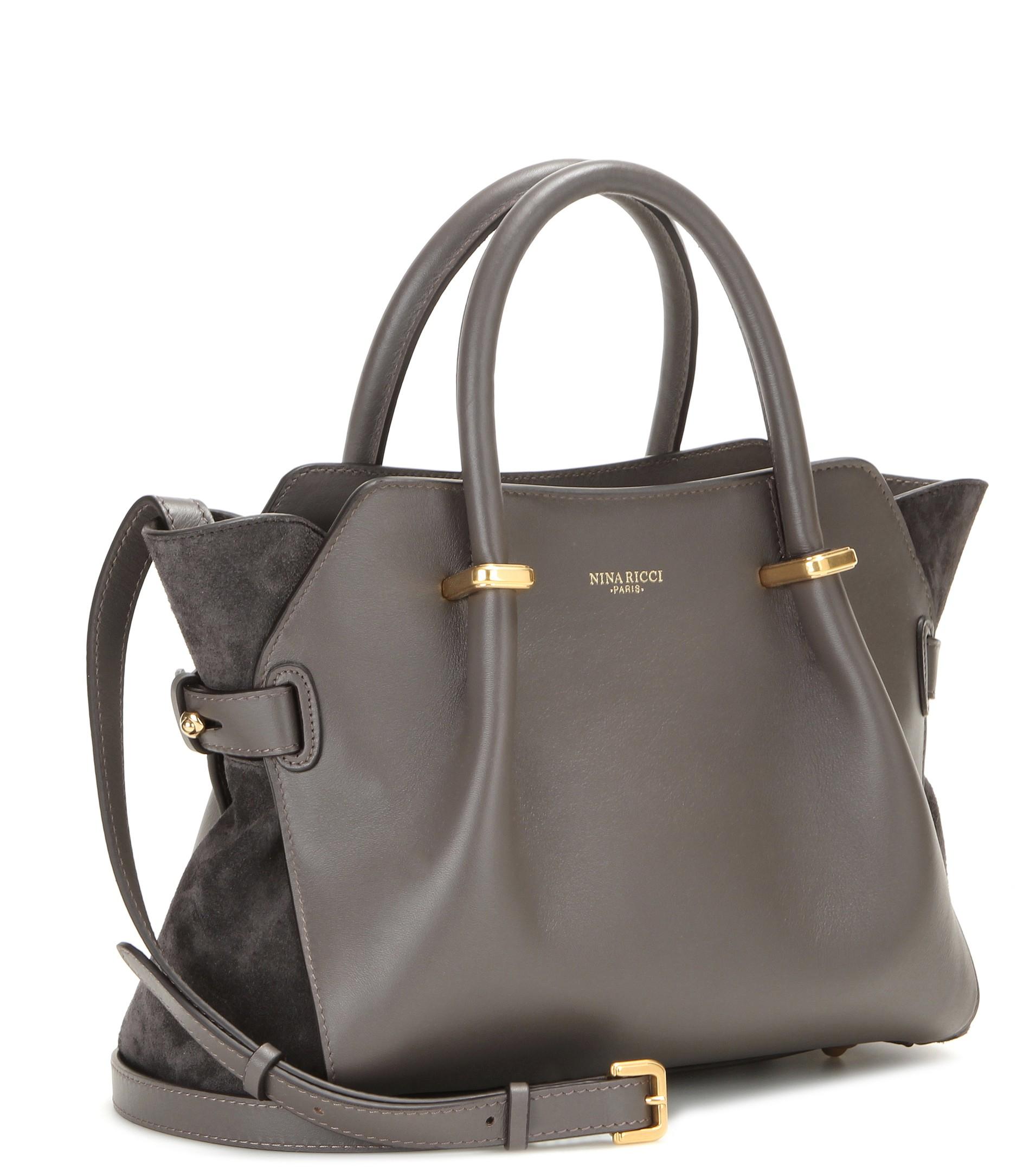 9462ba055df Nina Ricci Marché Mini Leather Tote in Gray - Lyst