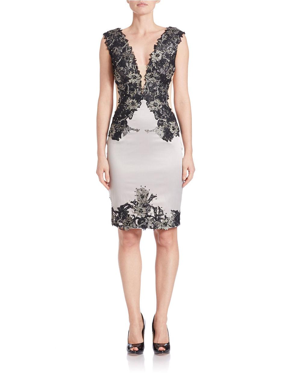 Julian joyce illusion lace dress