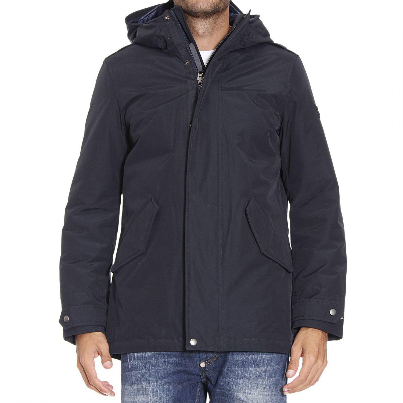 woolrich down jacket in blue for men lyst. Black Bedroom Furniture Sets. Home Design Ideas