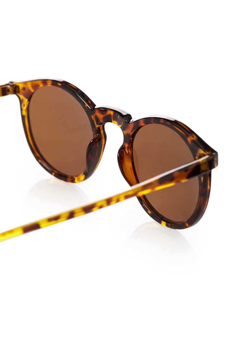 1df0f0a5b Forever 21 Round Tortoiseshell Sunglasses in Brown for Men - Lyst