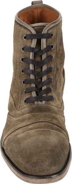 John Varvatos Fleetwood Lace Up Boots In Gray For Men