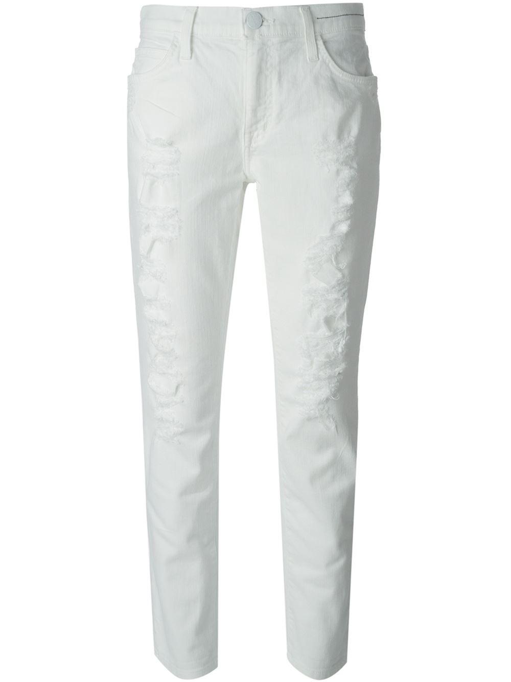 Perfect  39The Fling39 Rolled Boyfriend Jeans Benett Tattered  Nordstrom