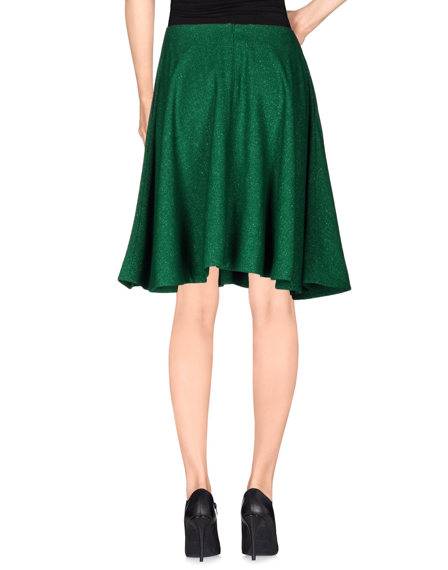 j w knee length skirt in green