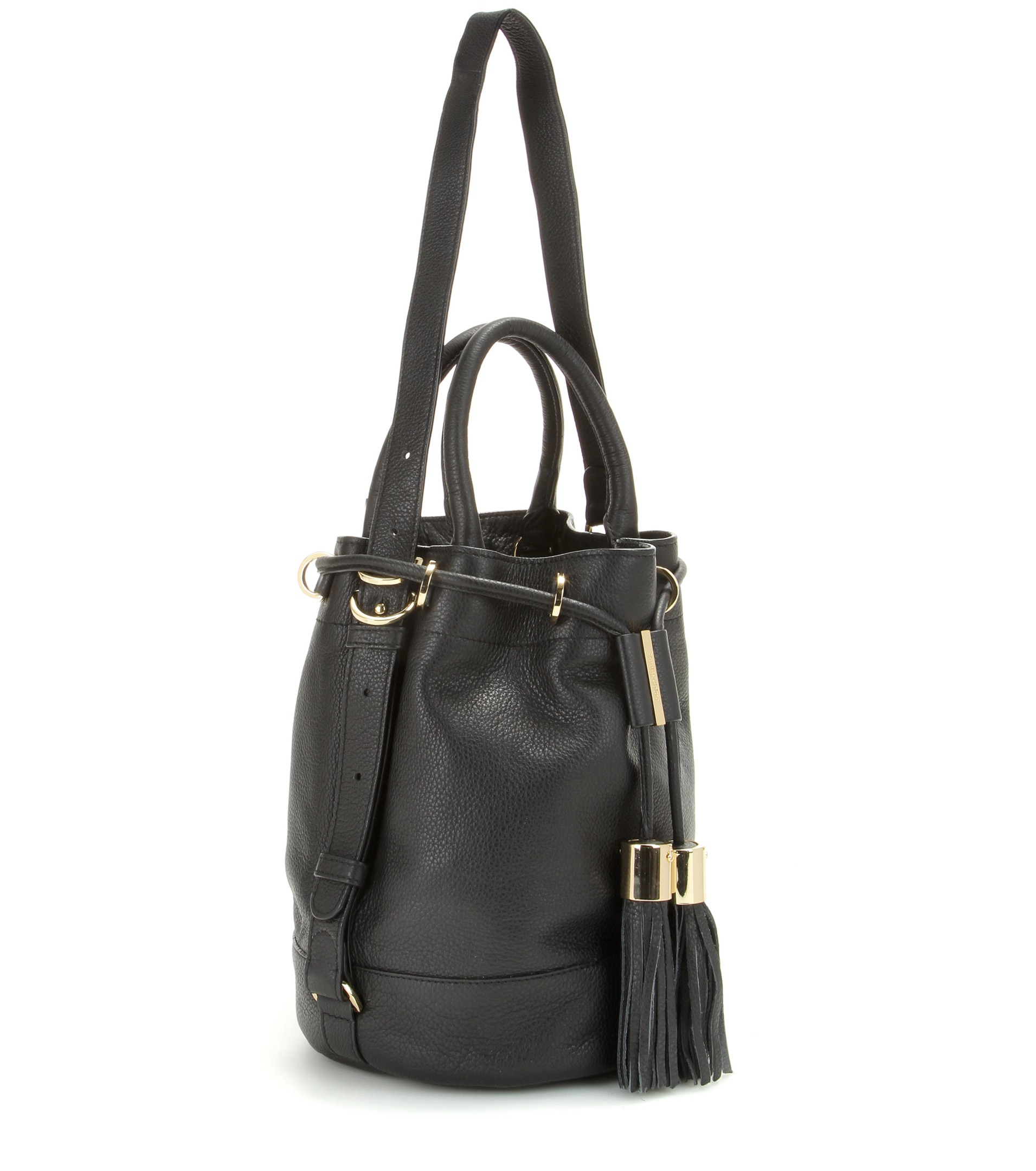 fake chloe purse - See by chlo�� Vicki Large Leather Bucket Bag in Black | Lyst