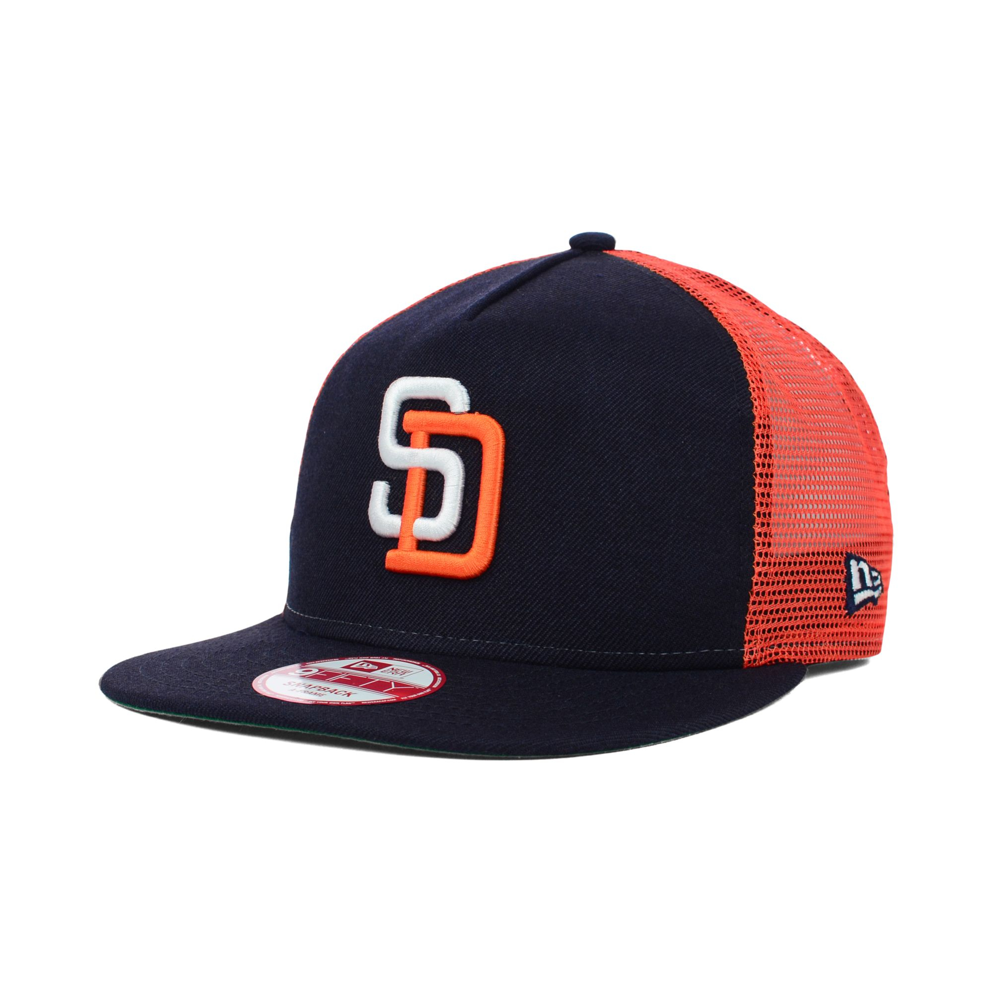 fc3a2e1fdba closeout lyst ktz san diego padres trucker a frame 9fifty snapback cap in  8498c 13319