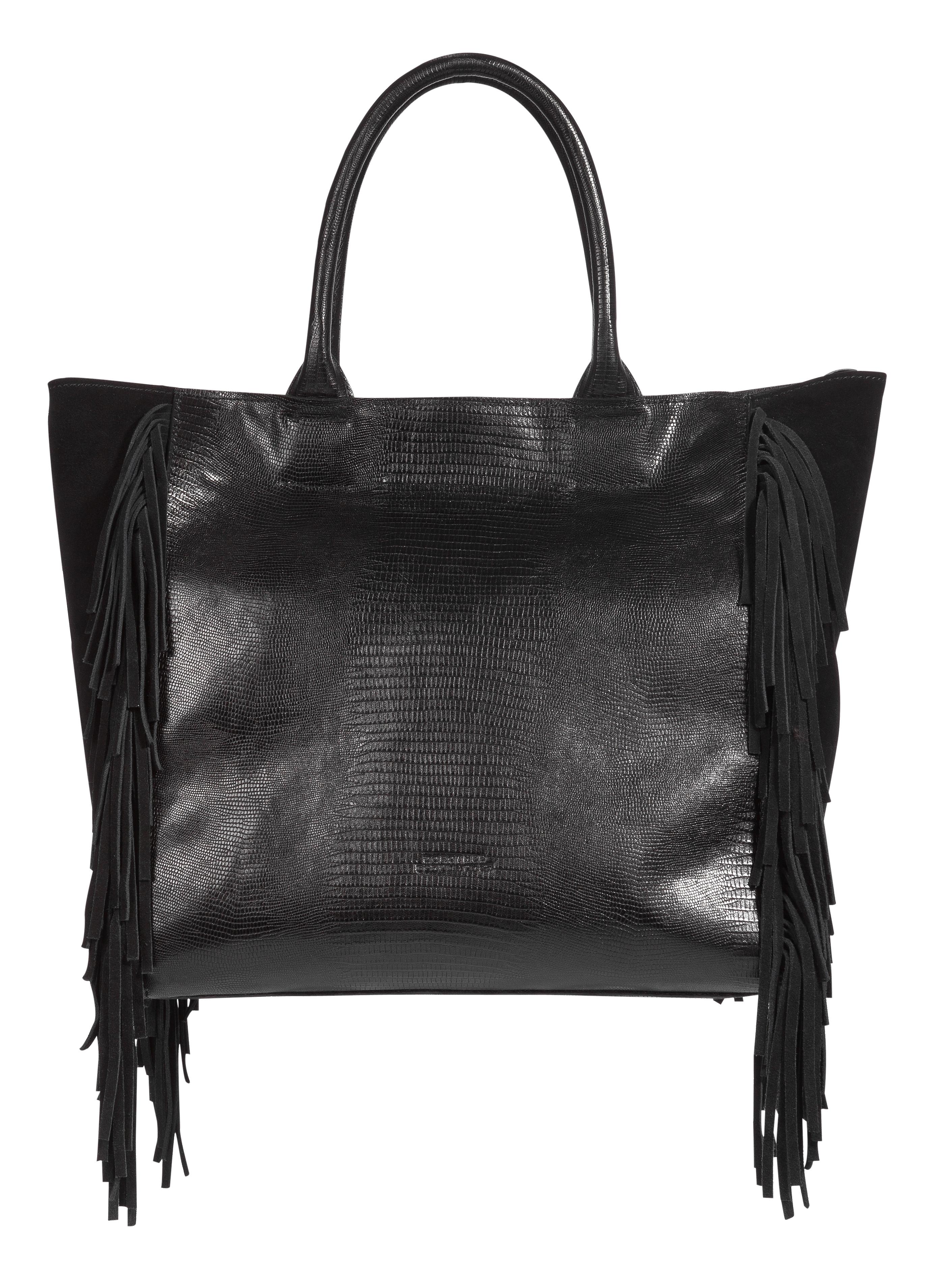 dorothee schumacher fringe addiction maya shopper small in black lyst. Black Bedroom Furniture Sets. Home Design Ideas