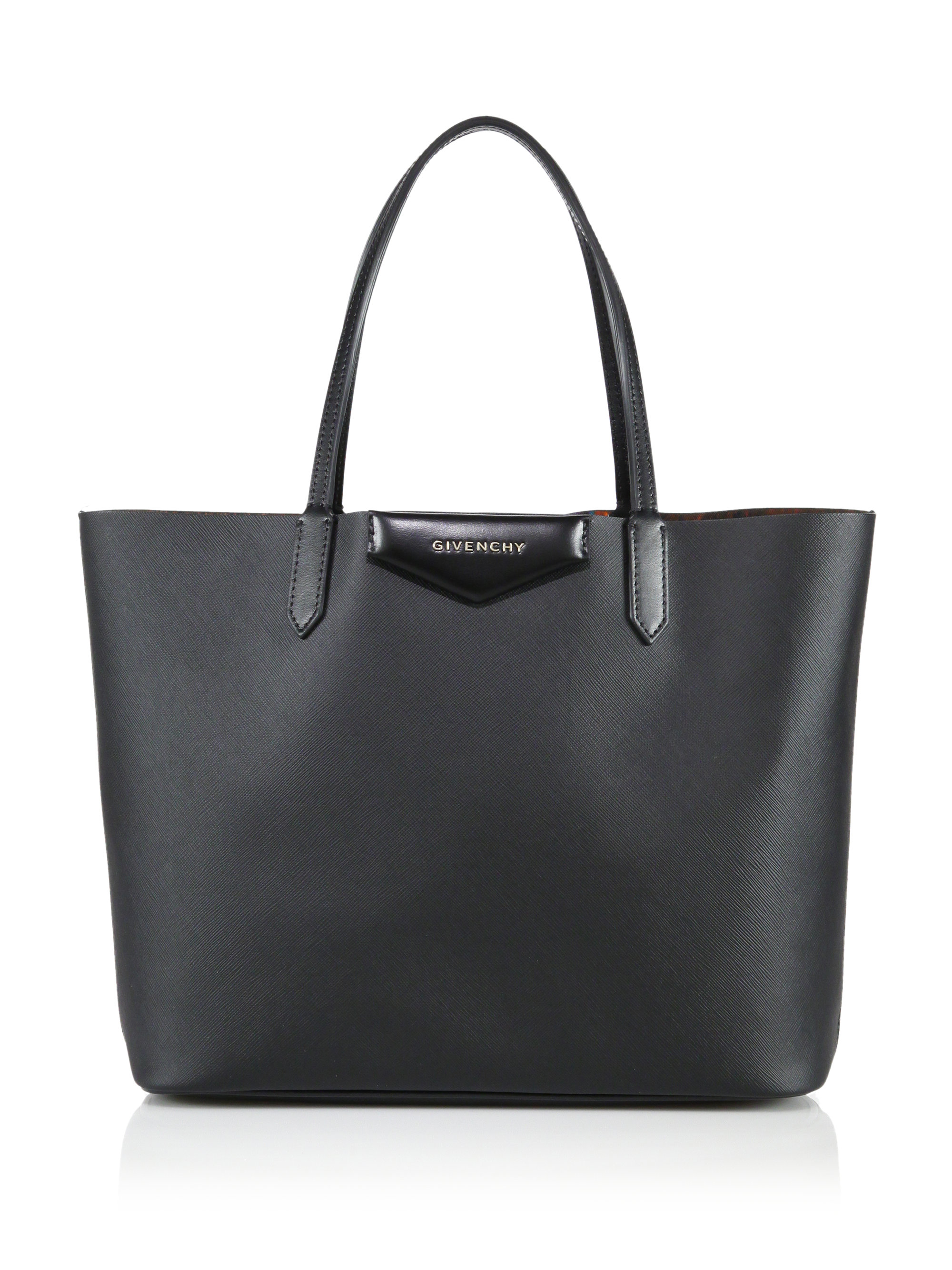 a9bd51aab6ff Lyst - Givenchy Antigona Small Coated Canvas Shopping Tote in Black