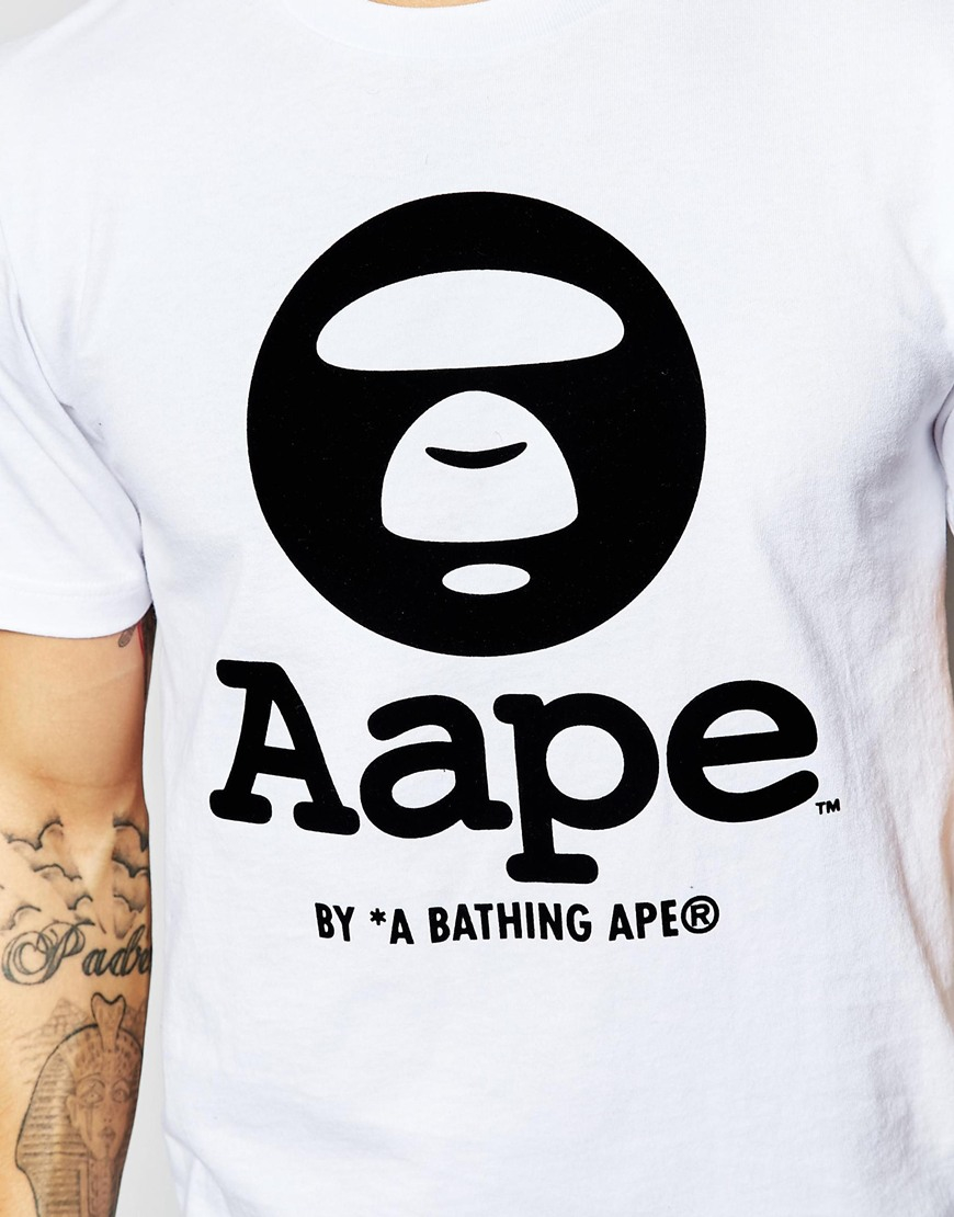 655b8015a63d Lyst - Aape By A Bathing Ape T-shirt With Logo in White for Men