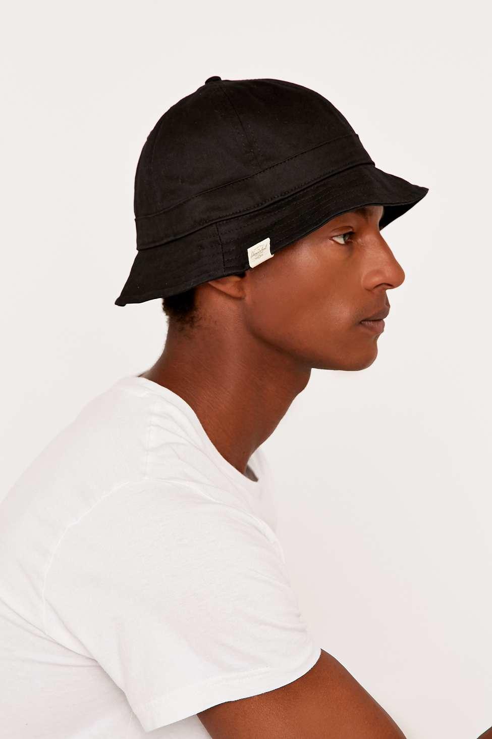 2103390405e ... where can i buy herschel supply co. windsor black explorer hat in black  lyst 37810