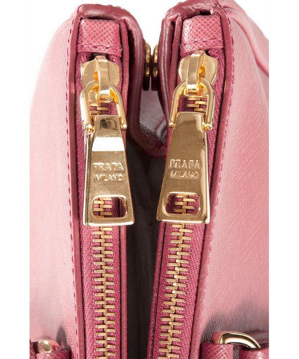 Prada Bn2274 Bag - Pink Brughiera Saffiano Lux Calf Leather ...