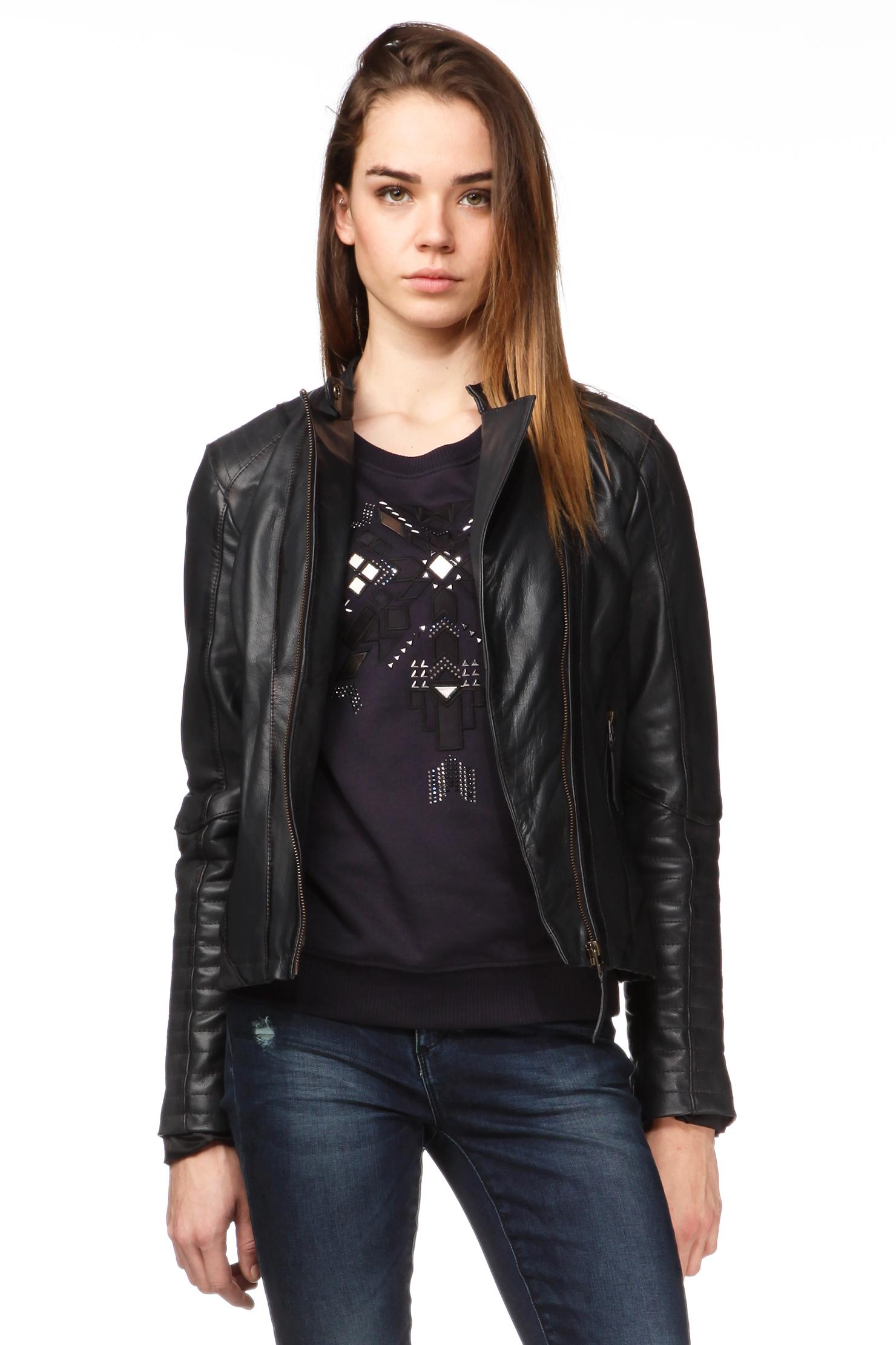 pepe jeans jacket in black lyst. Black Bedroom Furniture Sets. Home Design Ideas
