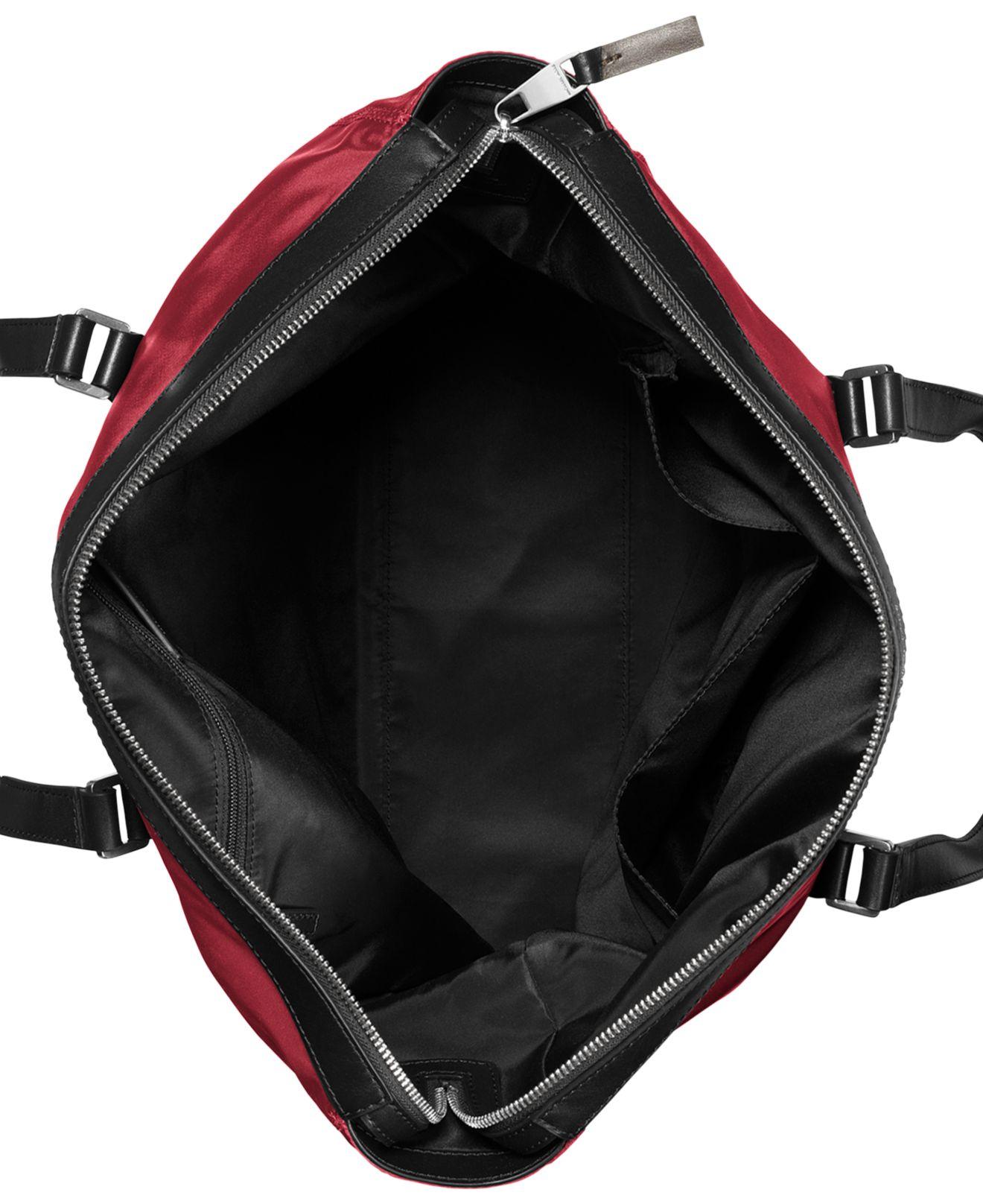 Bolsa Michael Kors Nylon : Michael kors kent light weight nylon large tote in red for