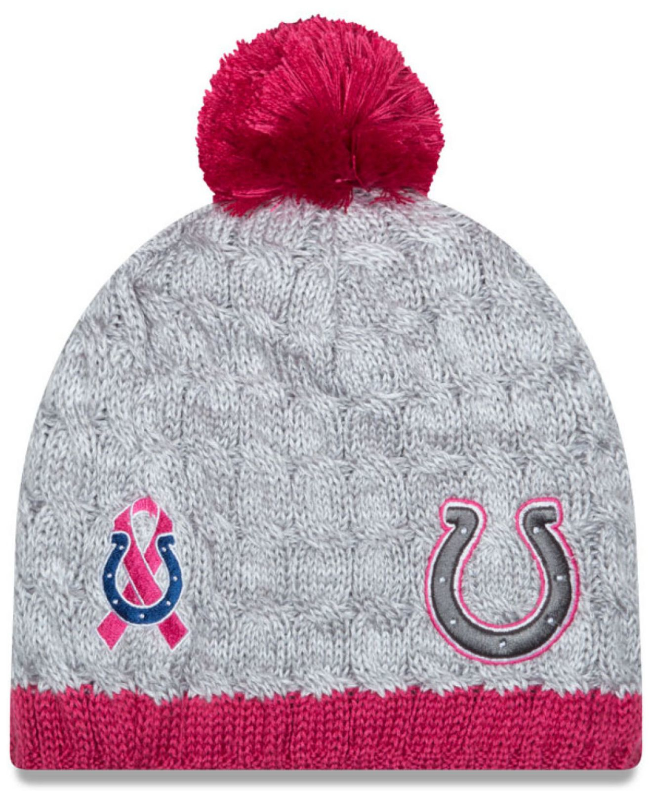 hot sales 50dc3 661ee ... buy cheapest lyst ktz womens indianapolis colts breast cancer awareness  knit 7831f 0742a fb3e8 0bd6d