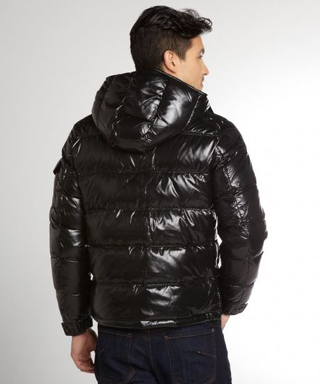 Moncler Black Quilted Maya Down Fill Hooded Jacket In
