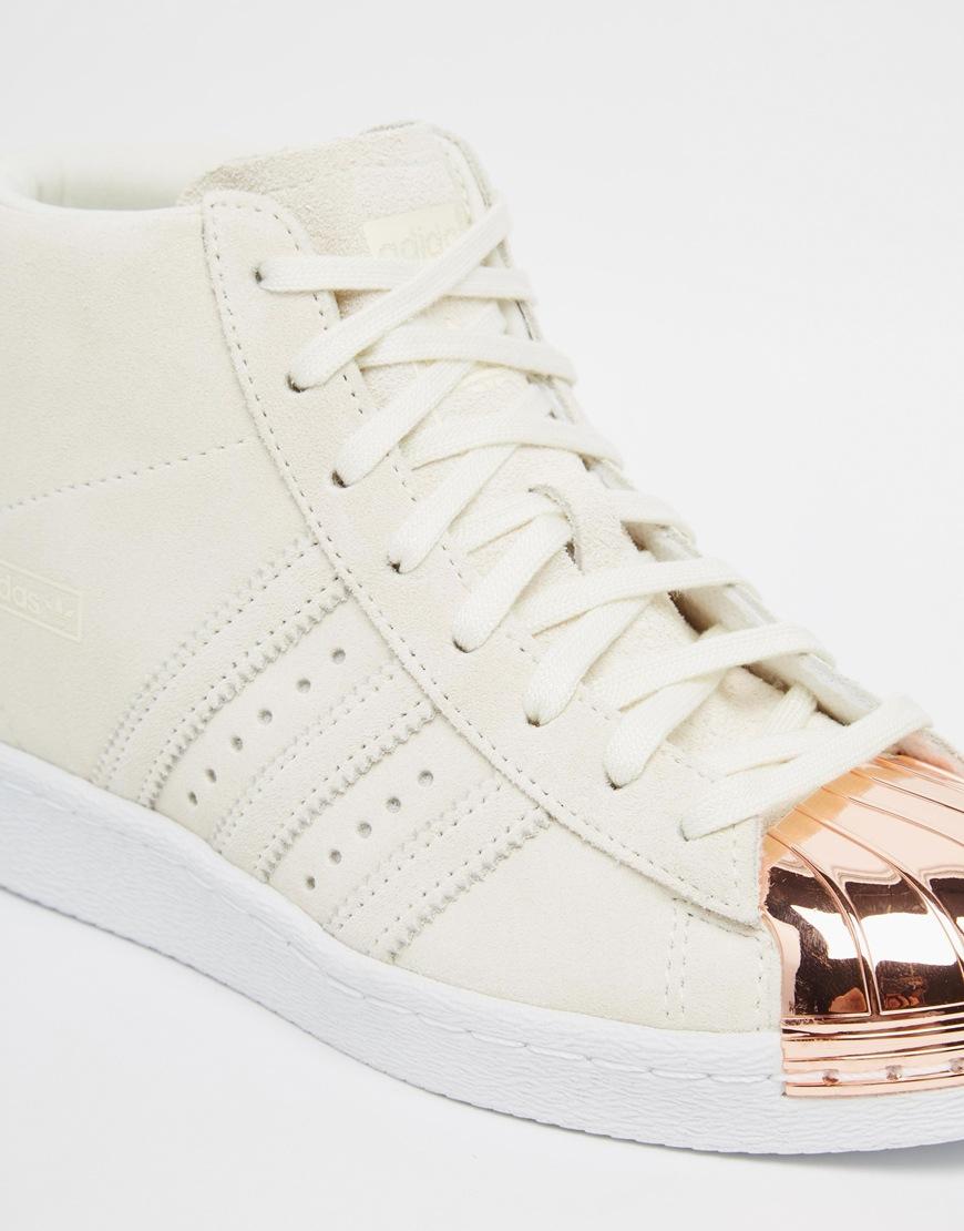 big sale 3a994 fd2df top quality adidas shoe sneakers superstar metal toe in white womenadidas  grey high topswholesale price 4c945 0a2e1  australia lyst adidas originals  ...
