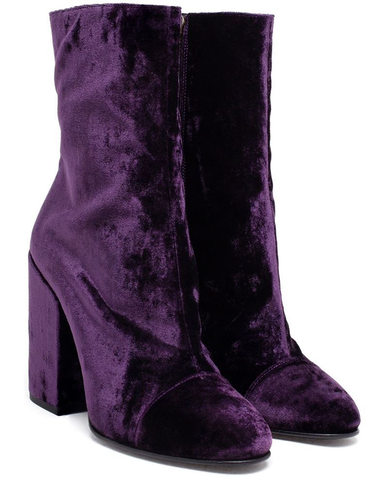 Dries van noten Boots Purple ??? Suede | Lyst