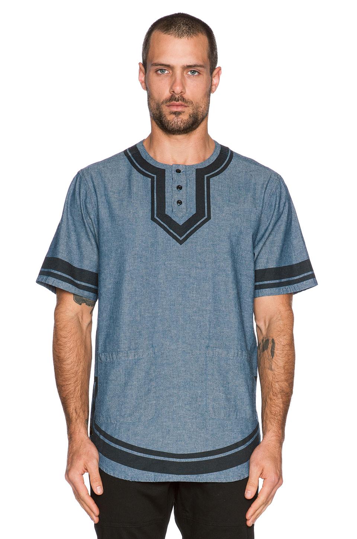 lyst 10deep dashiki shirt in blue for men