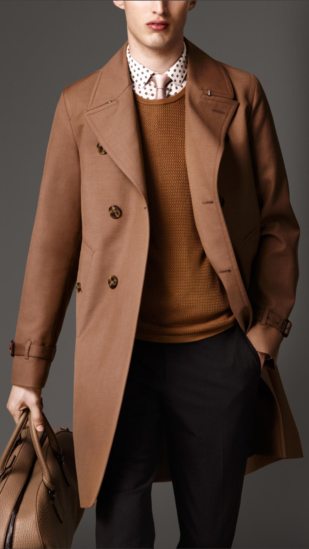 Burberry Long Cottonbonded Virgin Wool Mohair Trench Coat in Brown ...