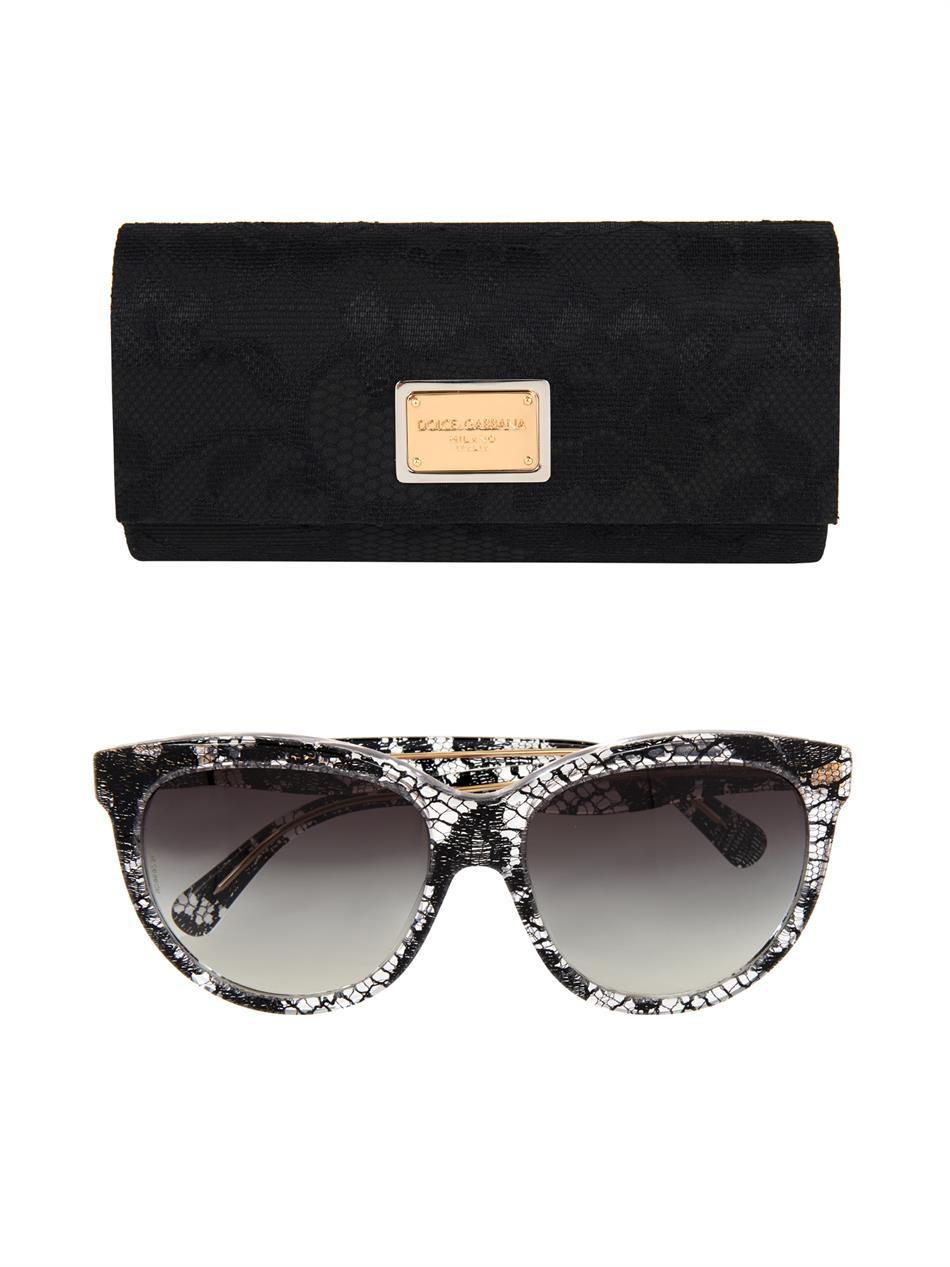 969891b4c9d4 Dolce And Gabbana Round Flower Sunglasses