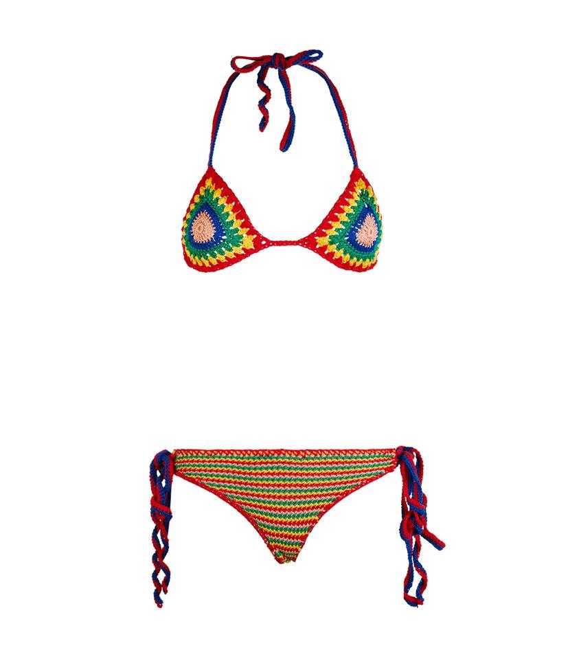 Tommy Hilfiger Crochet Tie-side Bikini in Green - Lyst 5afc51d6a879