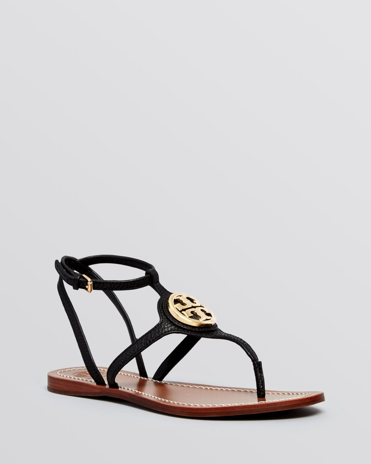 Gallery - Tory Burch Flat Thong Sandals Leticia In Black Lyst