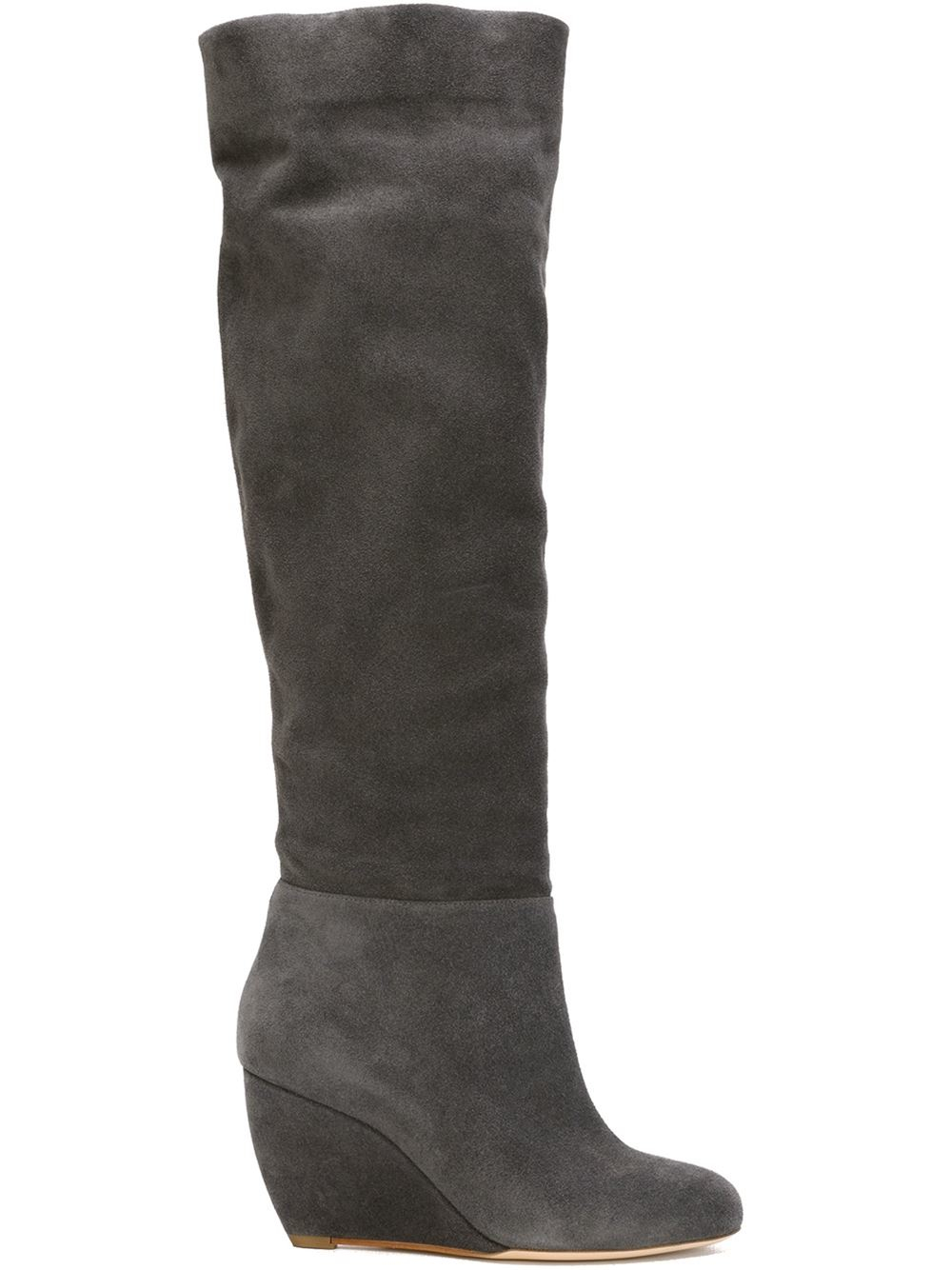 rupert sanderson knee high wedge boots in gray grey lyst