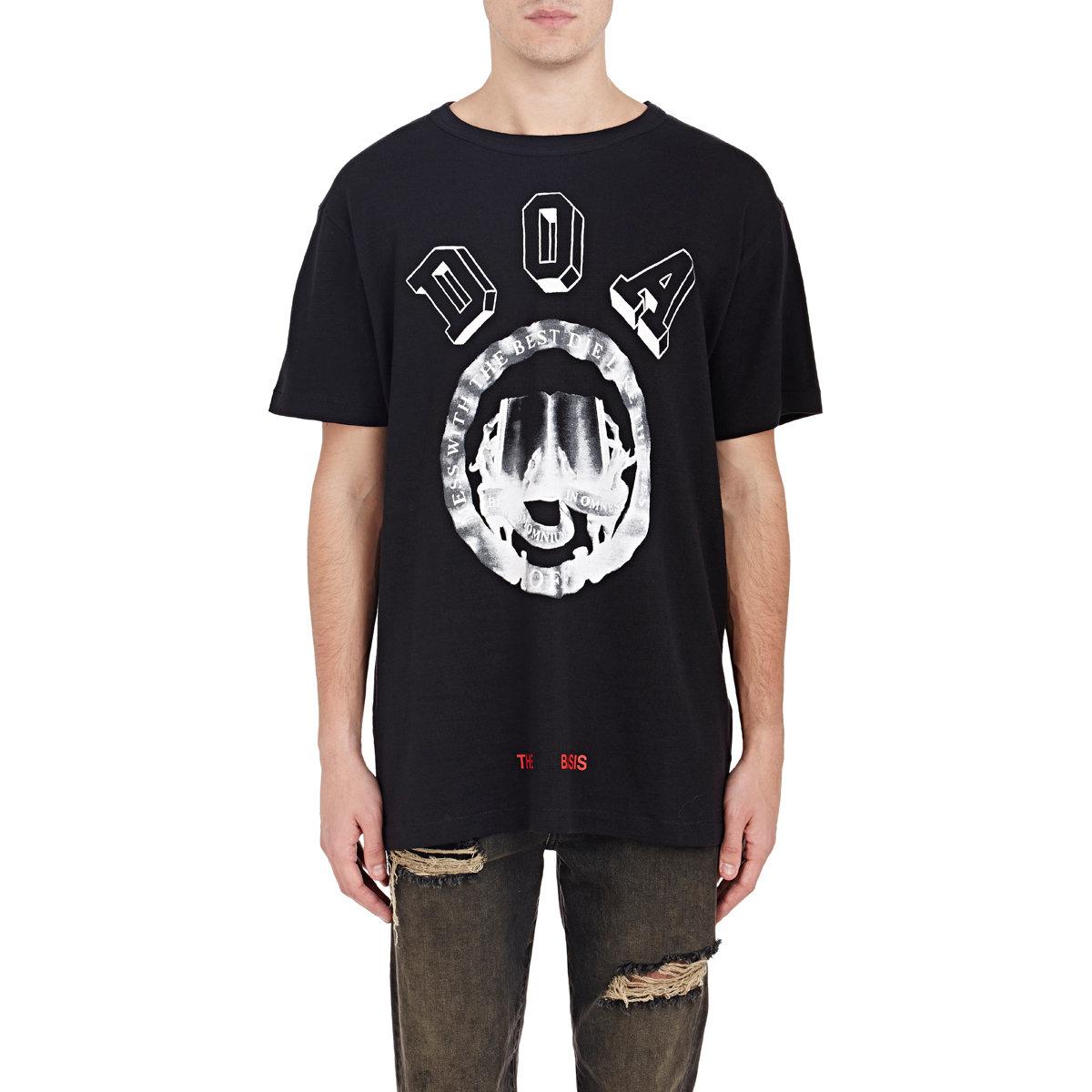 Lyst - Off-White c o Virgil Abloh Doa T-shirt in Black for Men 5c1065de7d3e