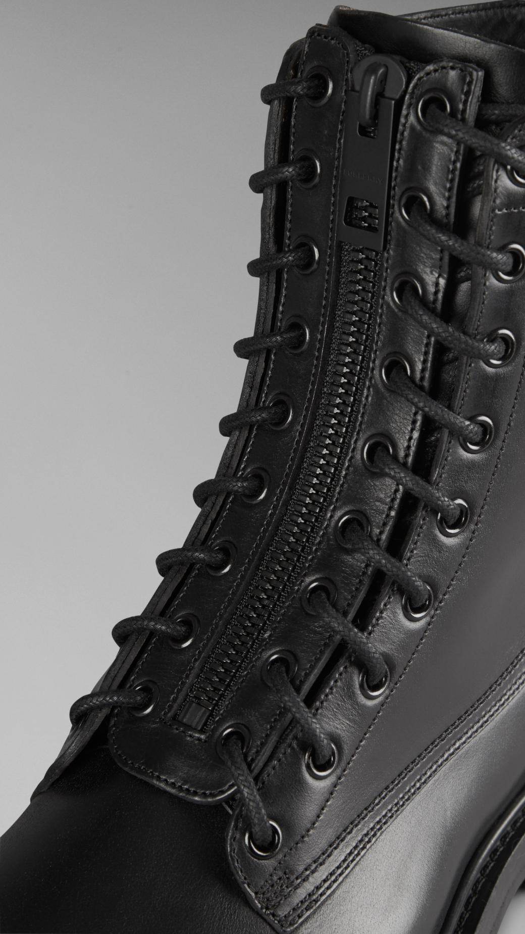 military boots - Black Burberry