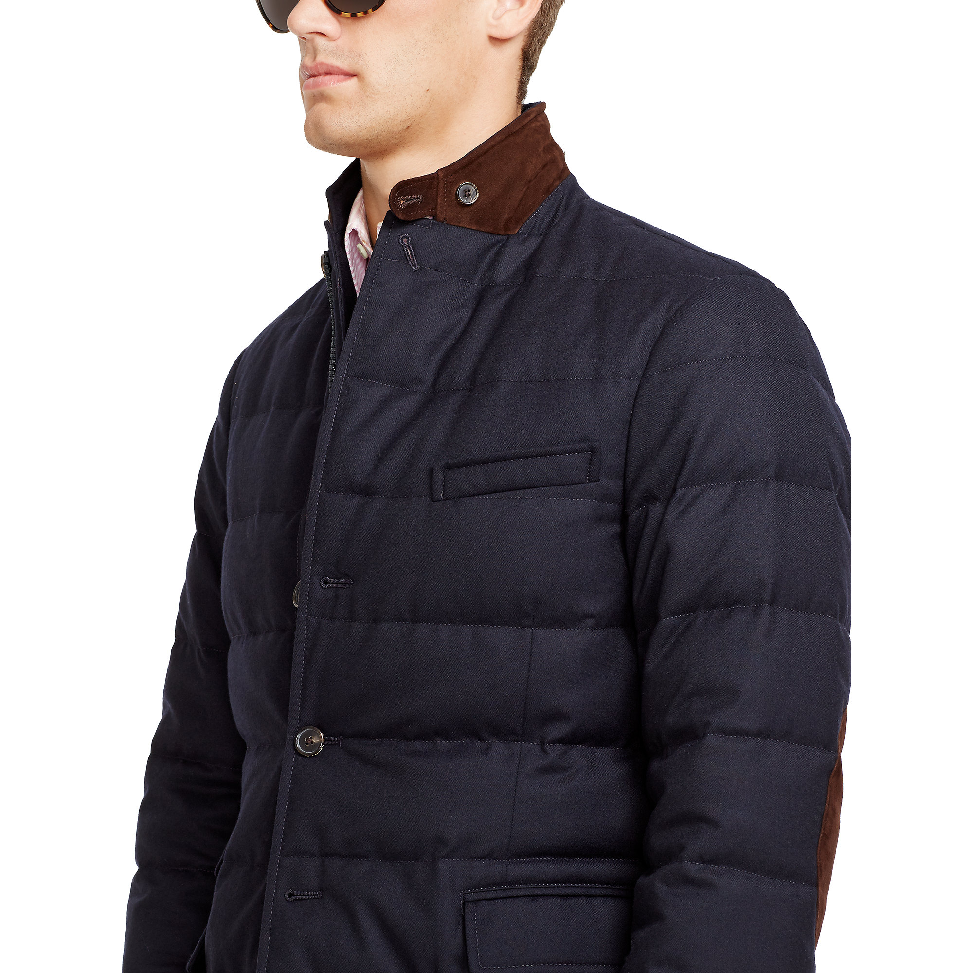 Lyst Polo Ralph Lauren Wool Quilted Down Sport Coat In