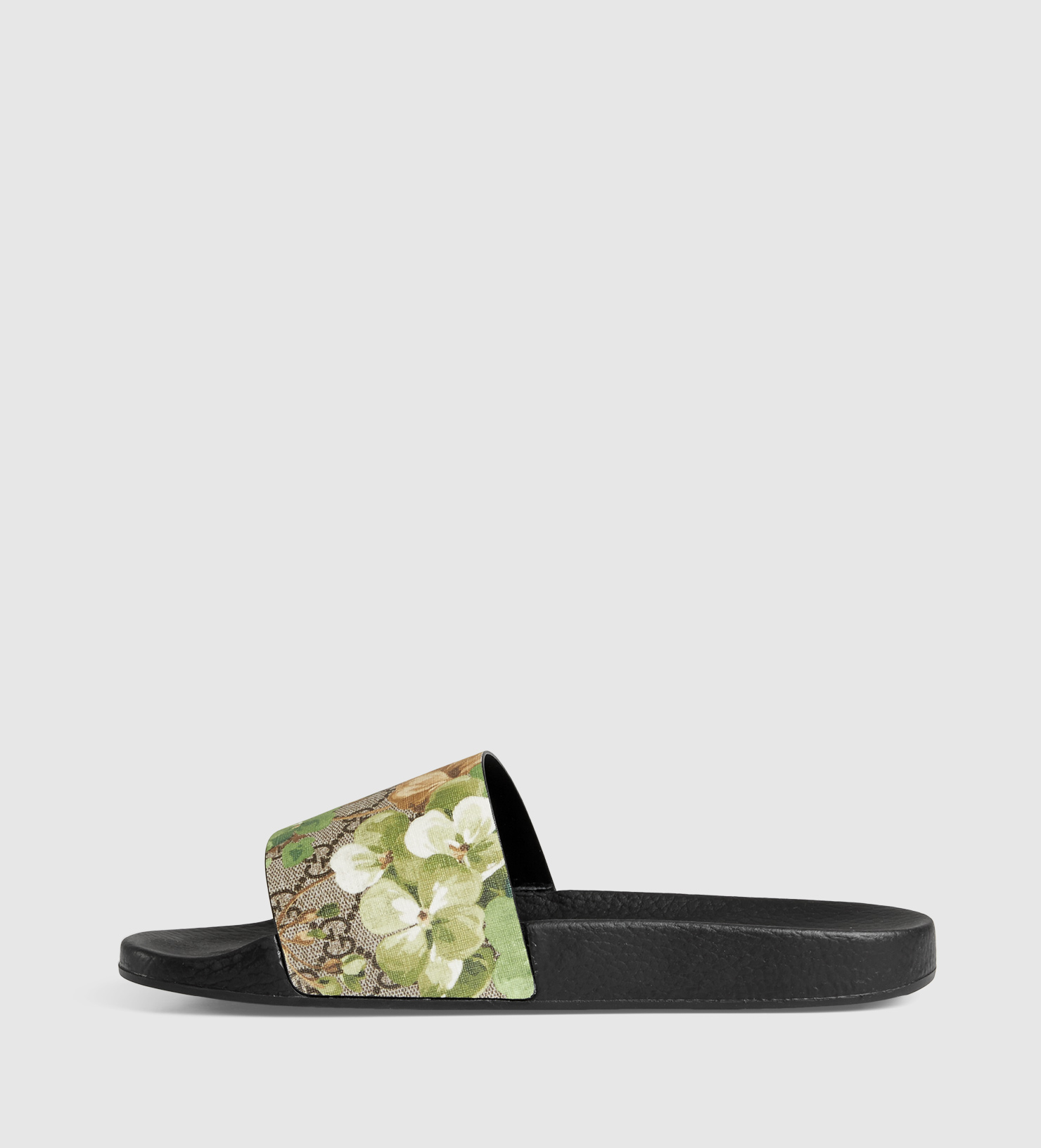 781e06412e2 Lyst - Gucci Blooms Print Sandal in Green for Men