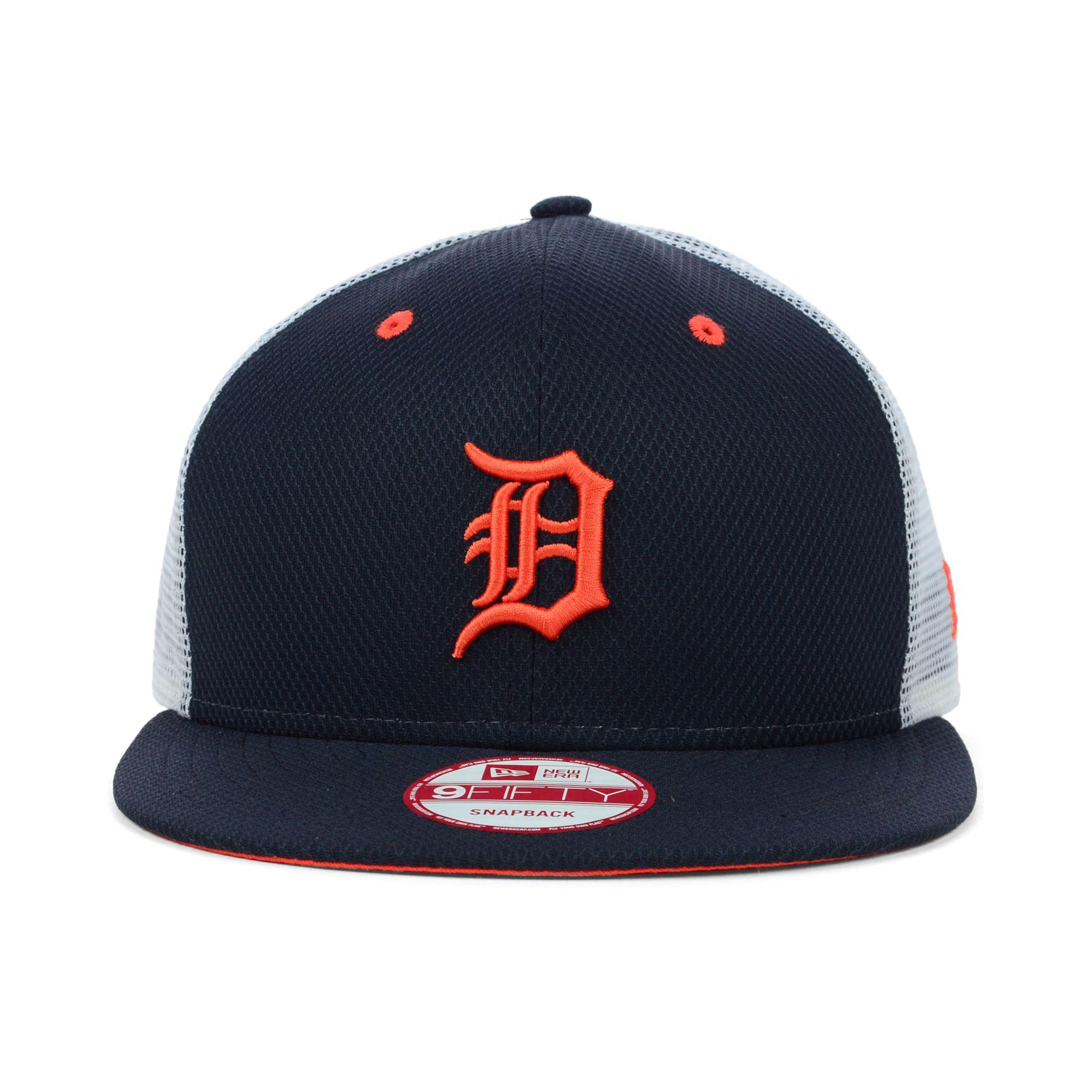 e6a2fb281b8 Lyst - KTZ Detroit Tigers Mlb Diamond Mesh 9fifty Snapback Cap in ...