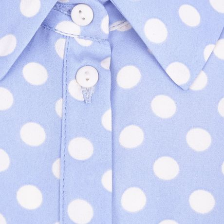 Light Blue Polka Dot Shirt Light Blue Polka Dot Roll