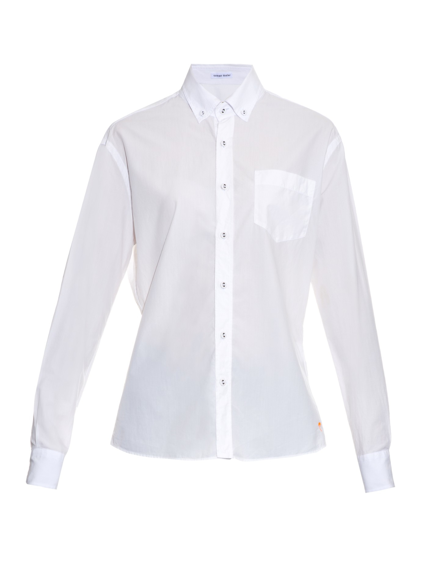 Tomas maier button down collar cotton poplin shirt in for White button down collar shirt