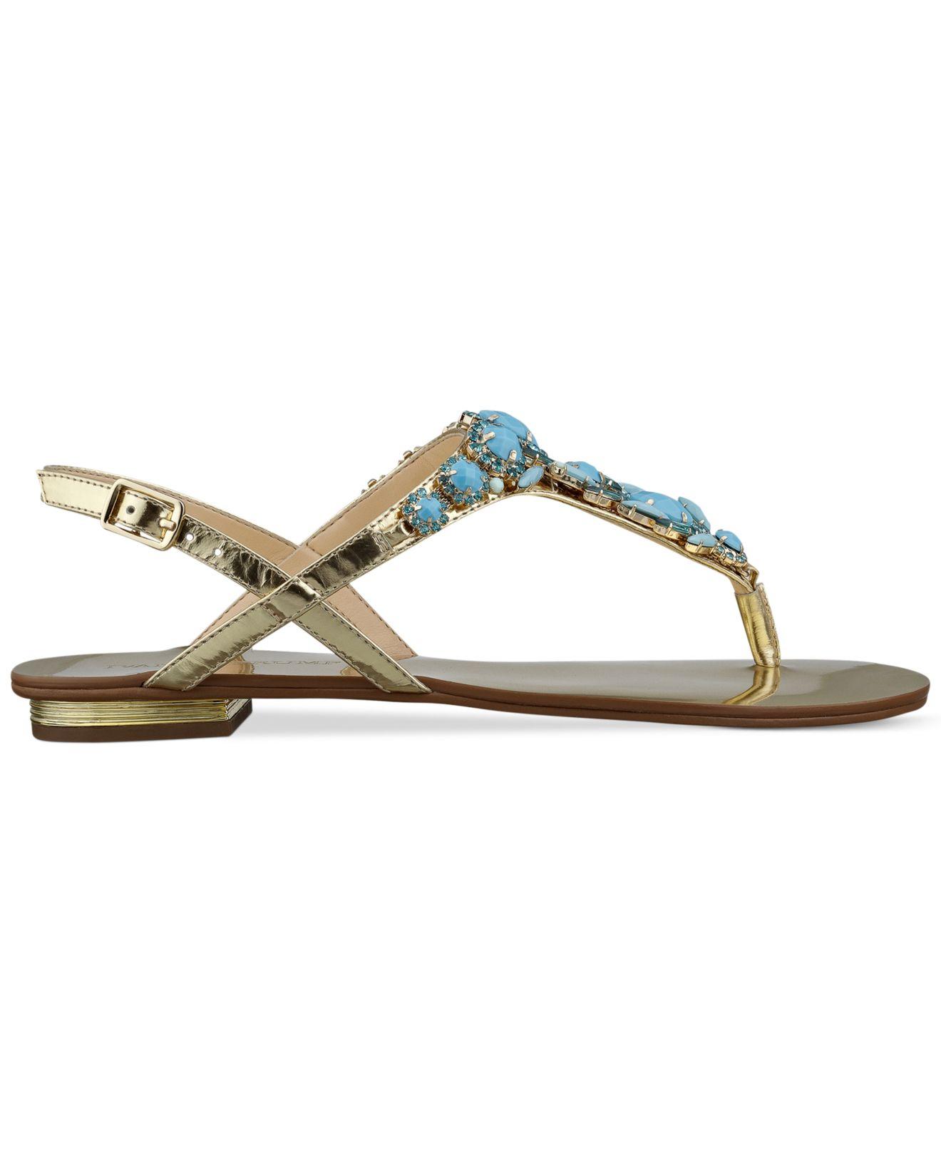 755bcb40e Lyst - Ivanka Trump Fona Jeweled Thong Sandals in Blue