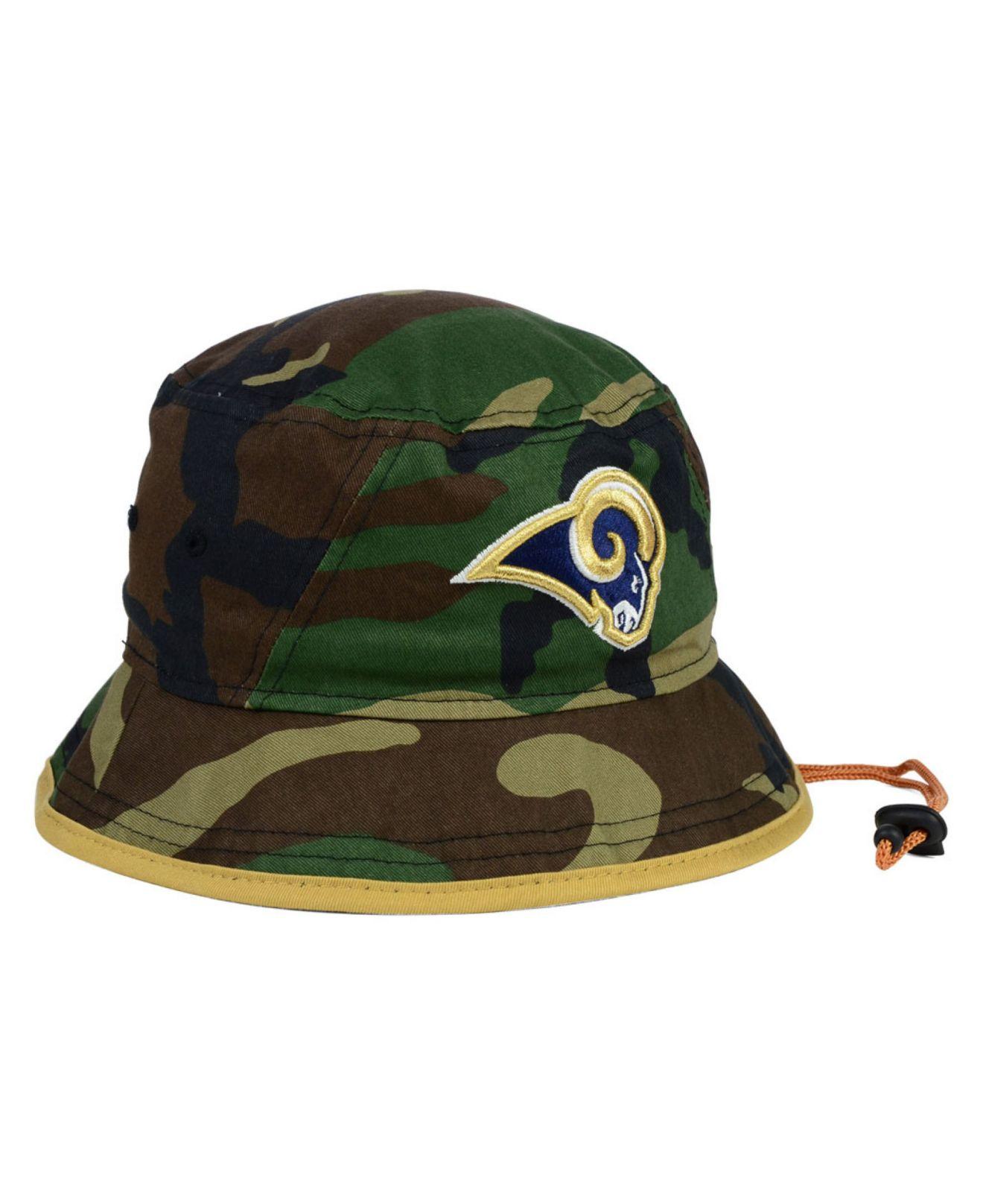 d81388ff823d2 Lyst - KTZ St. Louis Rams Camo Pop Bucket Hat in Green for Men