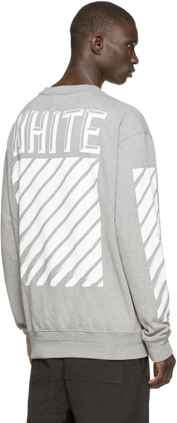 8de5235b6 Off-White c/o Virgil Abloh Grey 3_d Logo Sweatshirt in Gray for Men - Lyst
