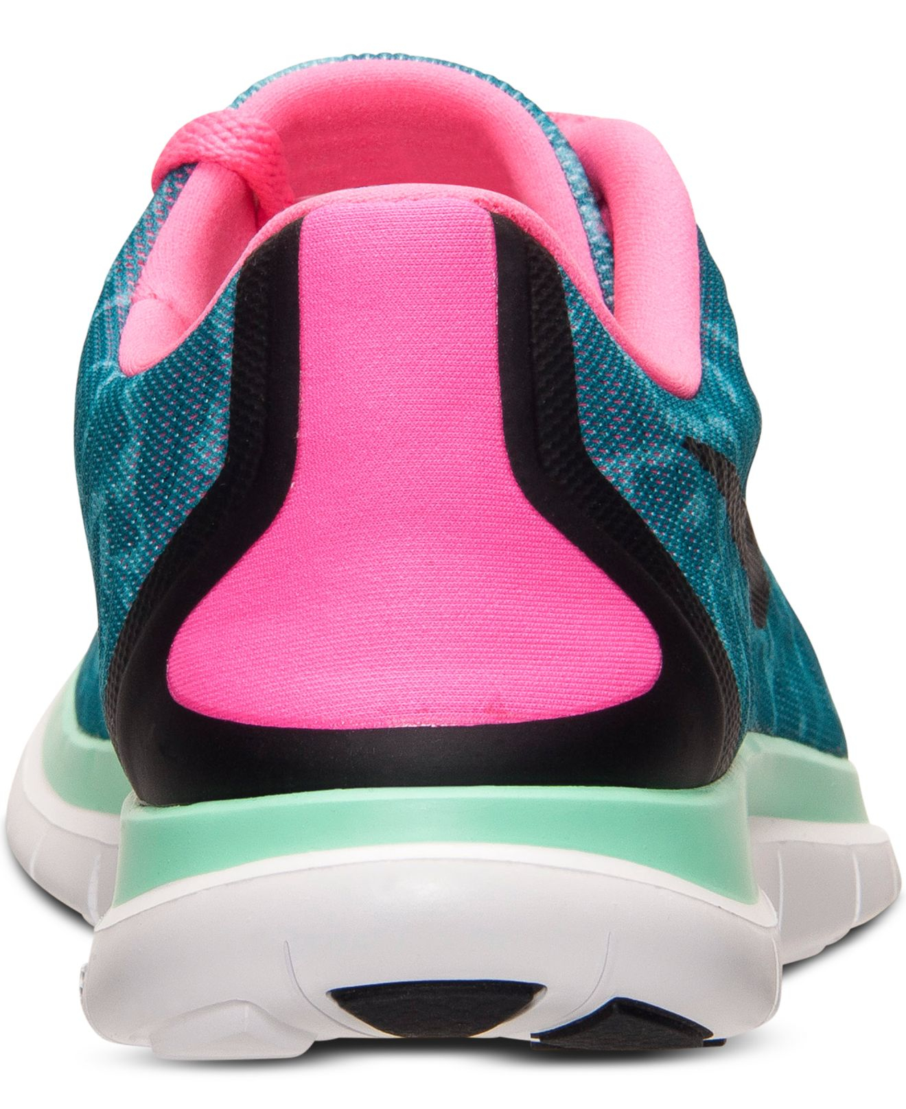 6c90cff955c6f ... Lyst - Nike Women s Free 4.0 V5 Print Running Sneakers From Finish .