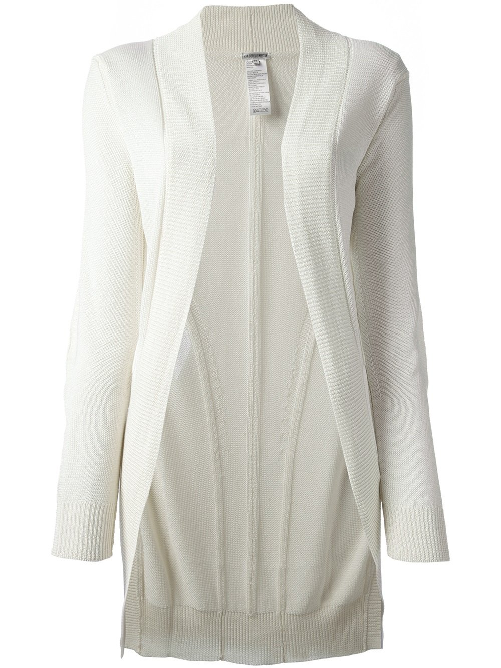 Ann Demeulemeester Blanche Deconstructed Long Cardigan in ...