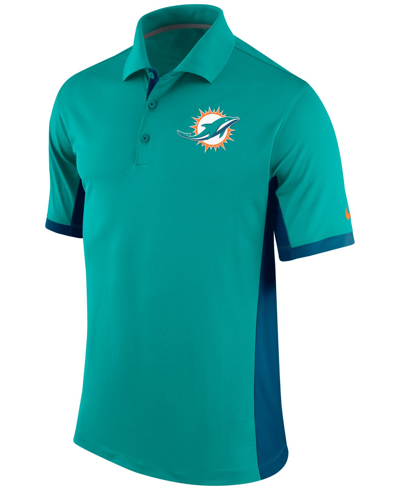 Lyst Nike Men 39 S Miami Dolphins Team Issue Polo In Green