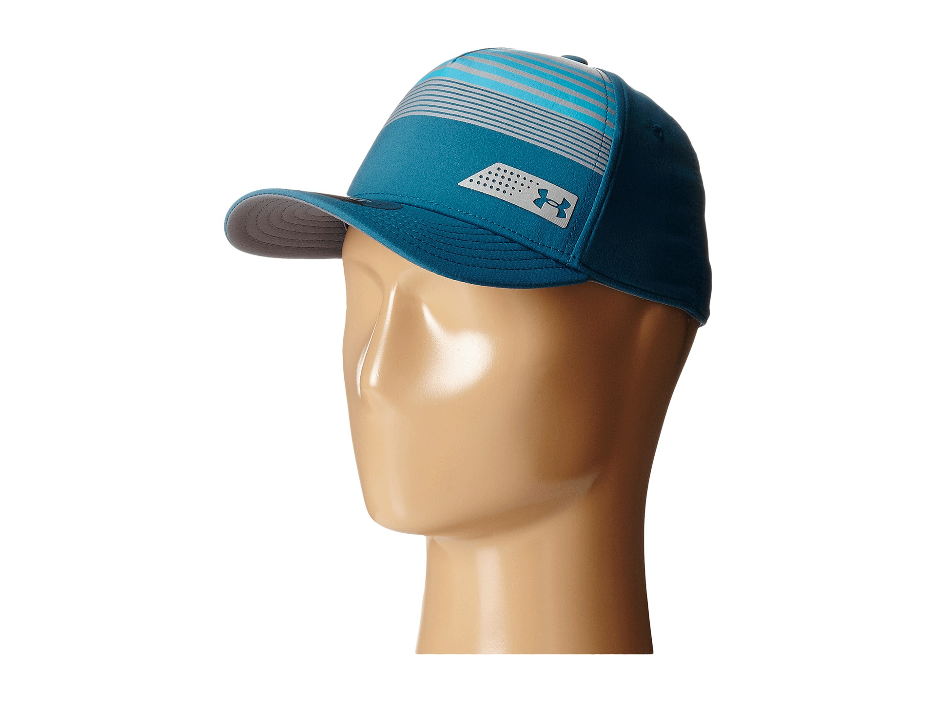 Lyst - Under Armour Ua Striped Low Crown Cap (youth) in Blue for Men 81edee17032