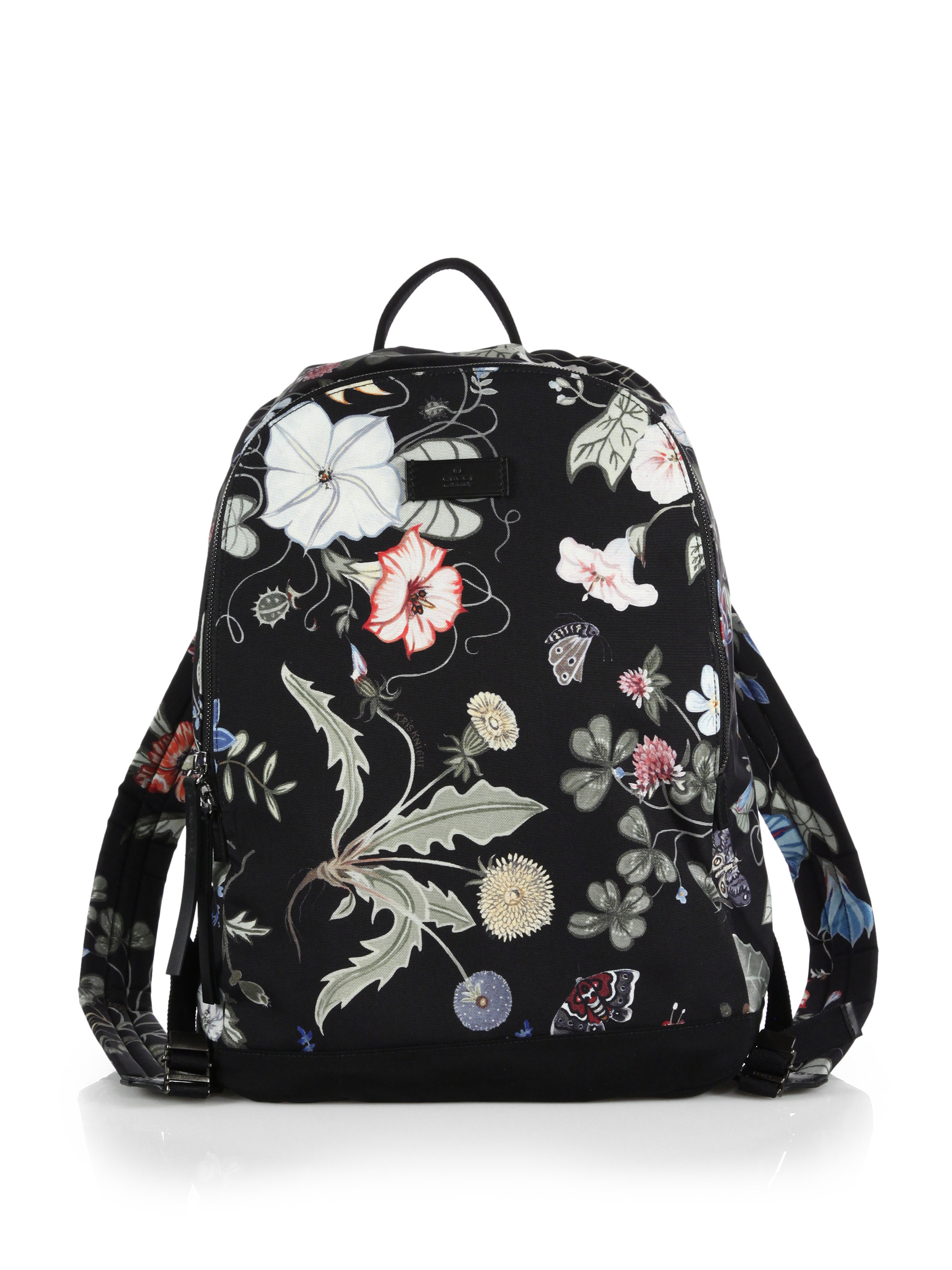 Lyst - Gucci D-Active Flora Knight Print Canvas Backpack in Black 338599066a